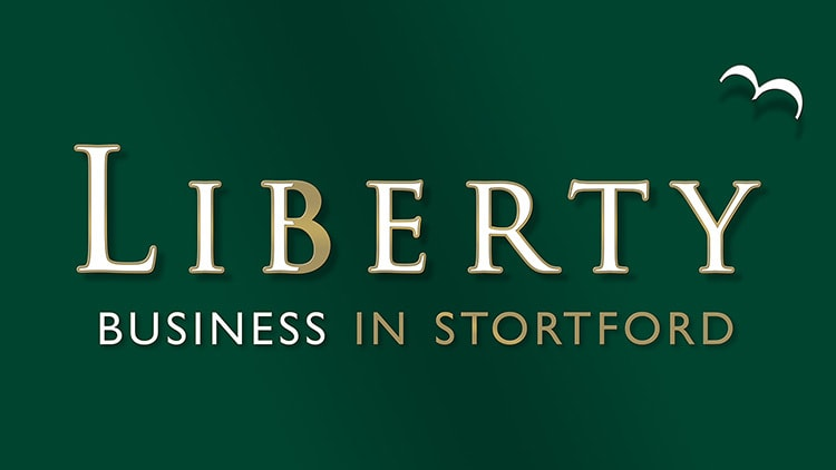 Liberty Business in Stortford 3D reversed logo with shadows