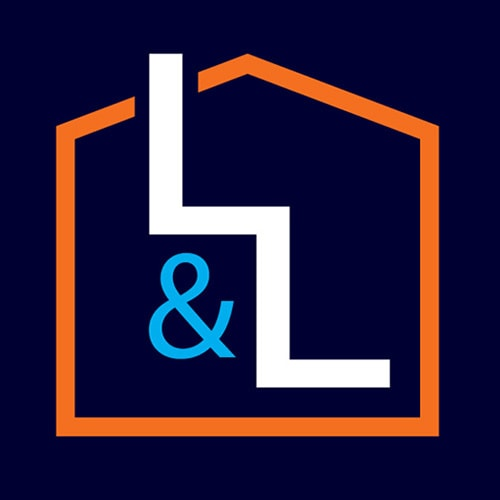 Combined two 'L's' to create staircase symbol logo design for Lofts and Ladders