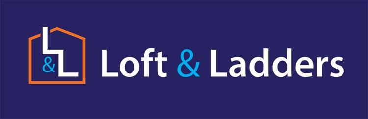 Lofts and Ladders landscape logo design reversed