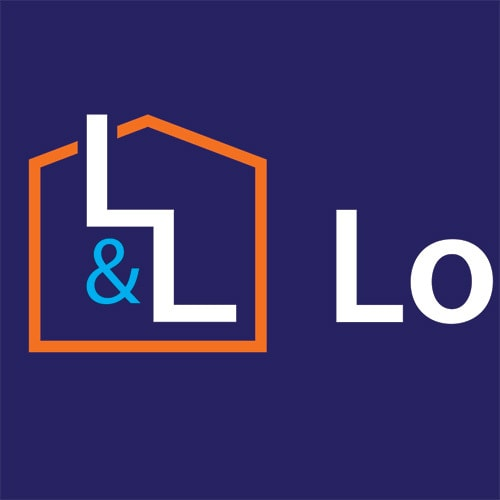 Lofts and Ladders landscape logo design reversed Thumbnail