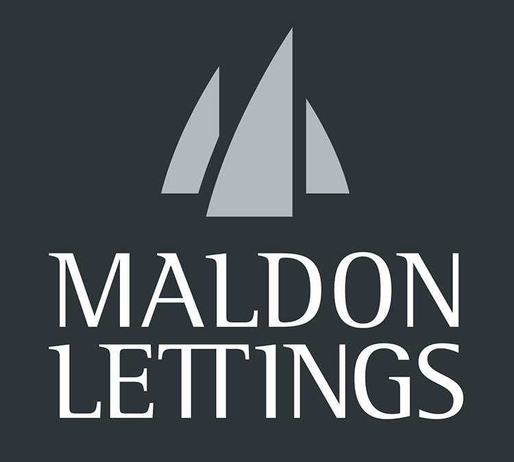 Maldon Lettings Branding Design Logo reversed stacked