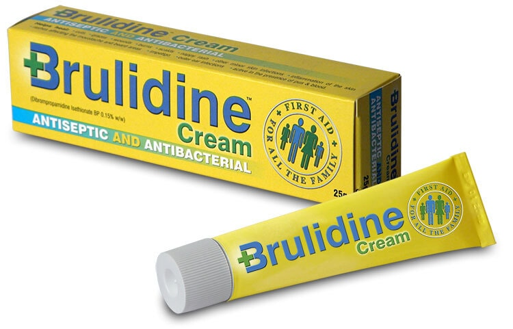 Brulidine Cream carton and tube packaging design for Manx Healthcare