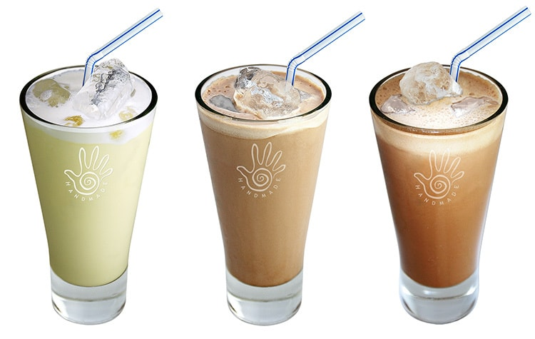 Marimba Iced chocolate drinks in Marimba branded glass