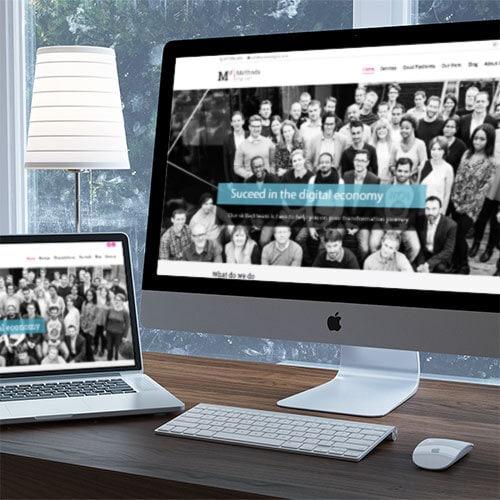 Methods Digital Website Design displayed on a desktop and laptop Thumbnail