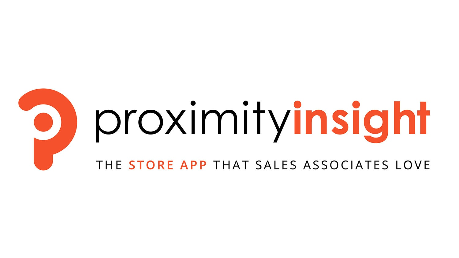 Proximity Insight landscape logo with strapline