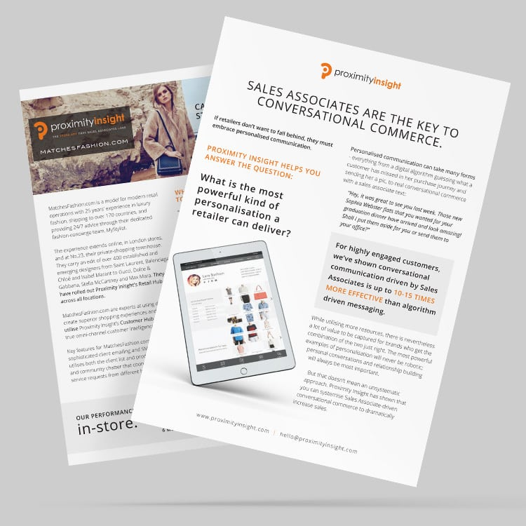 Case study print design for Proximity insight