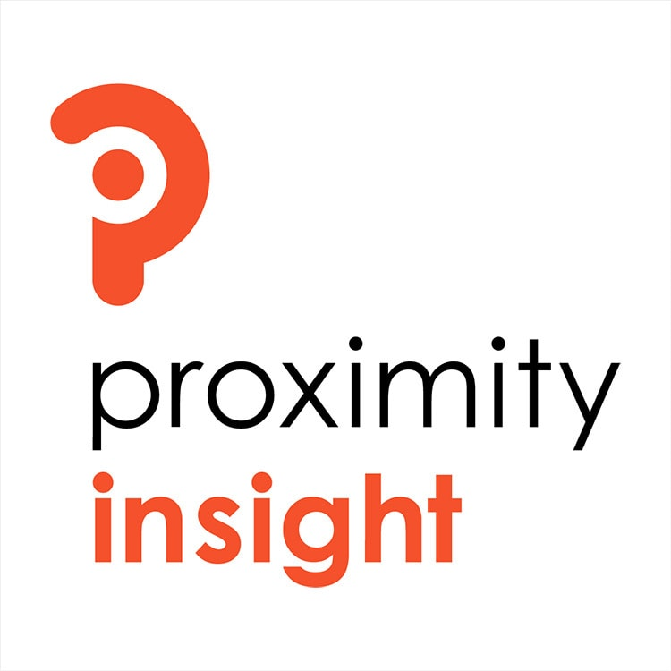 Portrait Proximity Insight branding design stacked white background