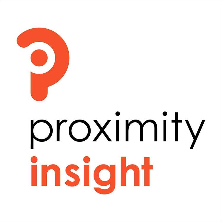 Portrait Proximity Insight branding design stacked white background