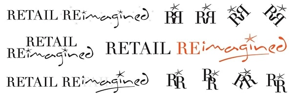 Further development of the Retail Reimagined logo design