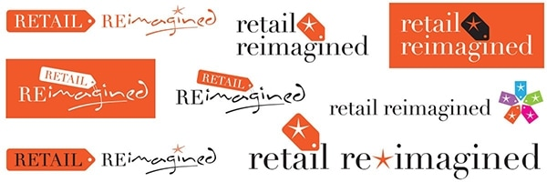 Final development of the Retail Reimagined logo design