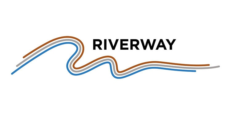 Riverway Electrical branding design with white background
