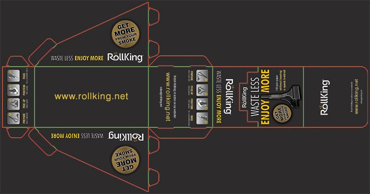 Packaging design net for Rollking products display
