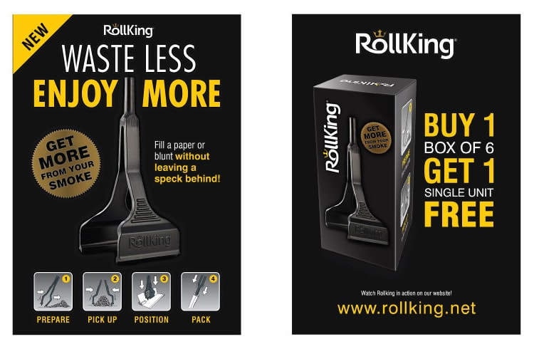Rollking poster print design promoting the new product
