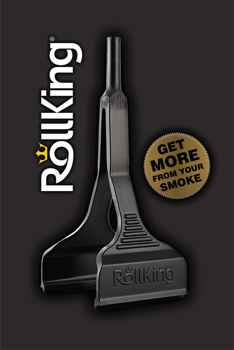 Rollking front product card with UV layers showing the step illustrated process