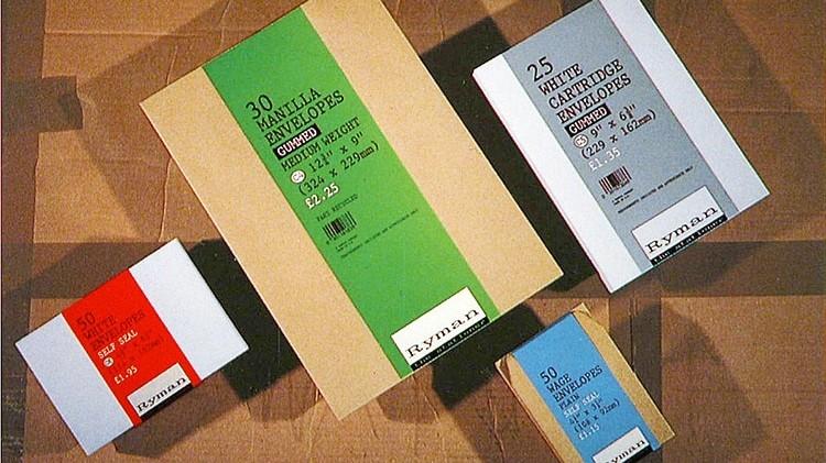 Set of envelopes Packaging design for Ryman