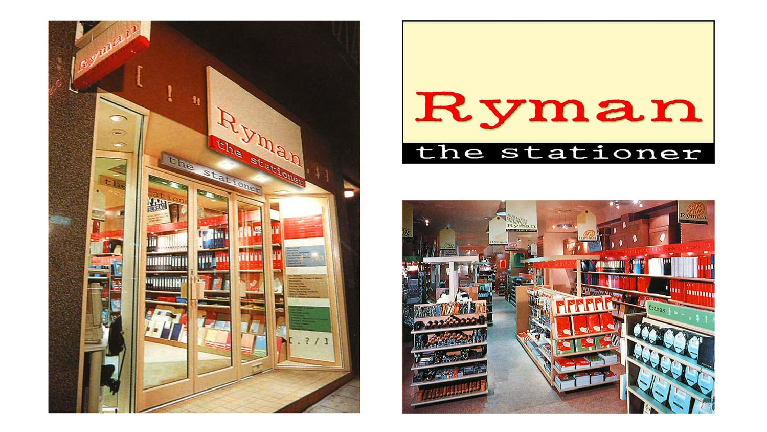 Shopfront and POS graphics design for Ryman retail stores