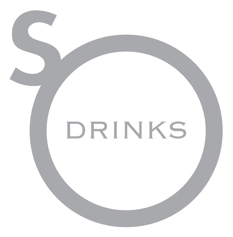 So Drinks logo design white background