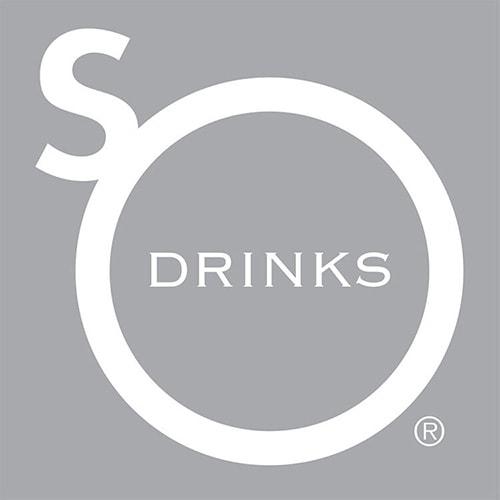 Reversed So Drinks logo design grey background Registered trademark symbol Thumbnail