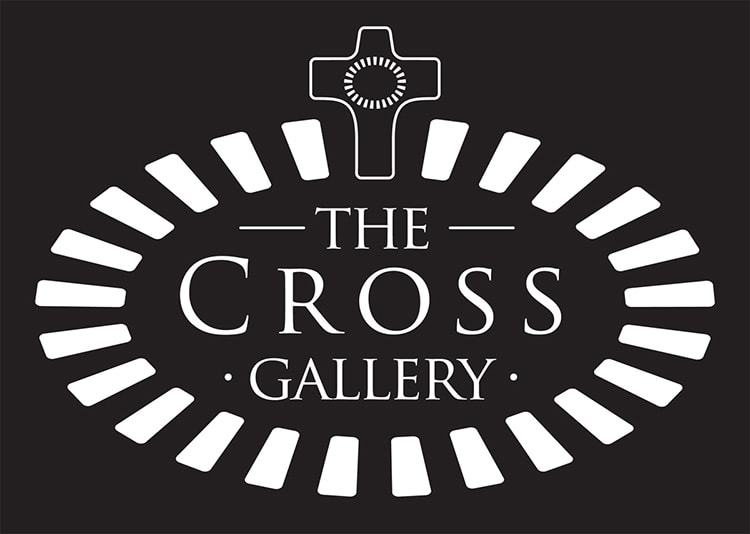 Reversed cross Gallery St Elizabeths sub-brand logo design