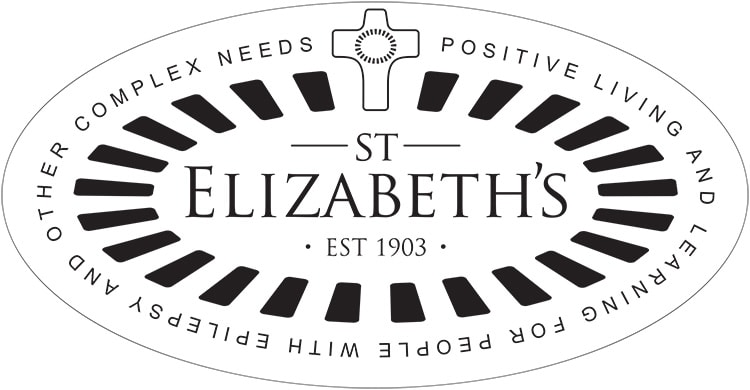 St Elizabeths with cross and outline with strapline branding design