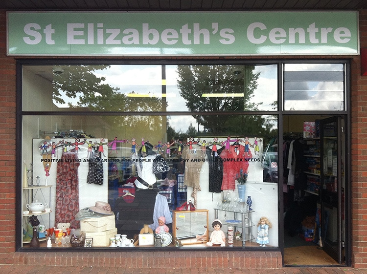 Before shopfront design with window treatment for Thorley St Elizabeth's shop