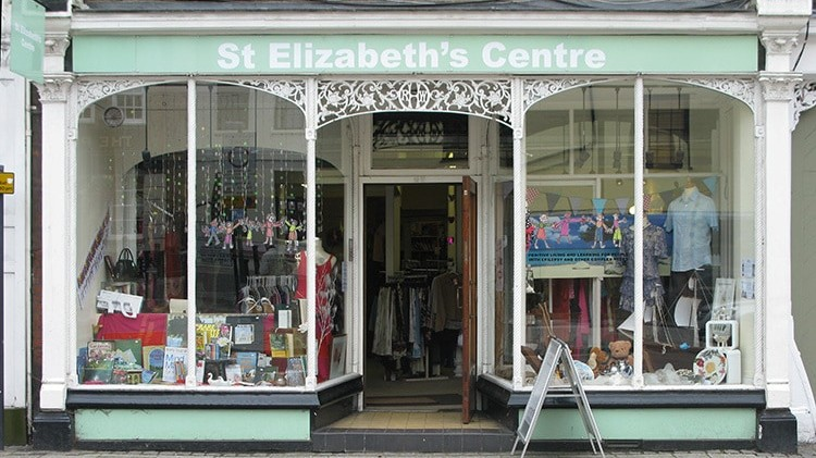 Before shopfront design with window treatment for Ware St Elizabeth's shop