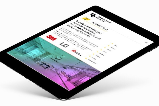 Tablet display homepage of T6 responsive website design