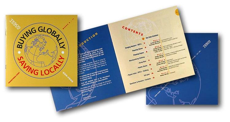 Buying Global brochure print design for Tesco