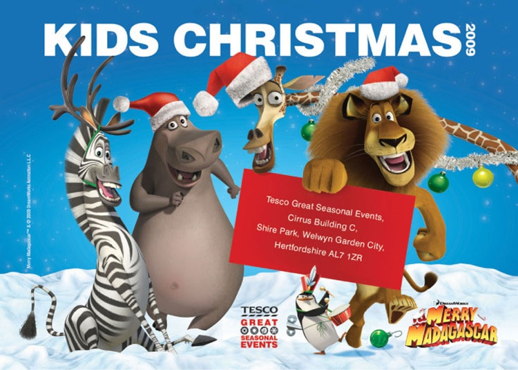 Madagascar Seasonal Event promotion design for Tesco