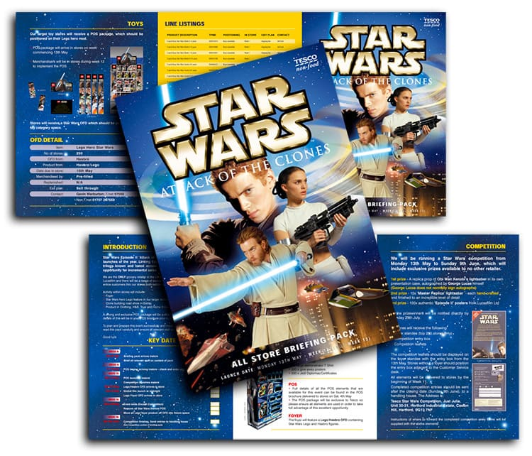 Tesco promotion design for Star Wars Attack of the clones launch