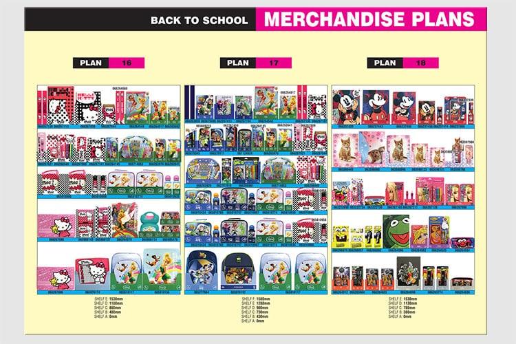 Tesco Back to School Merchandise planograms retail design