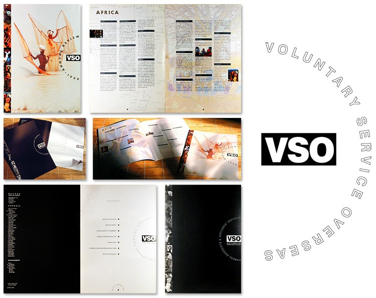 Annual accounts design the front cover and spread print design with VSO logo