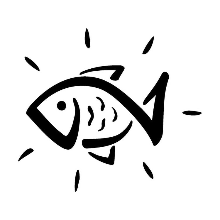 Fish icon design for Vivid Health