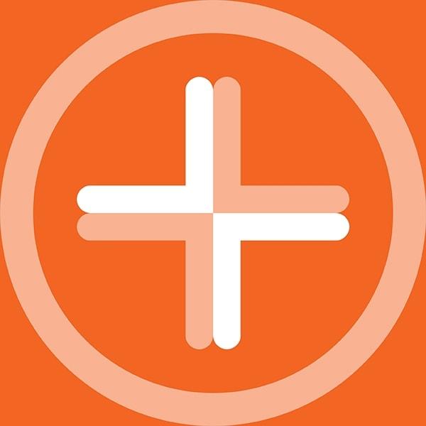 Vivid Health plus symbol branding design