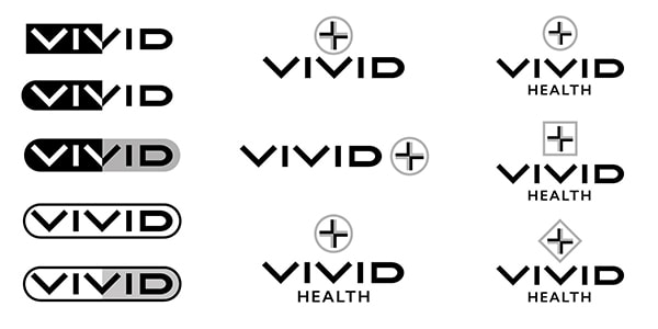 Vivid health branding design development process