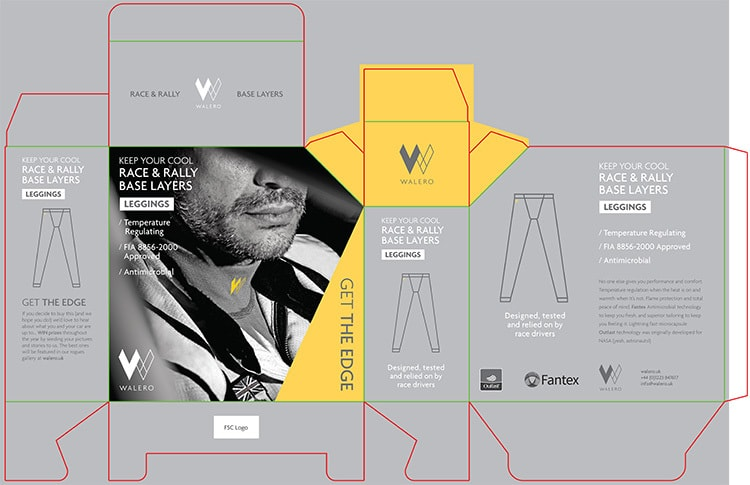 Leggings Packaging Design for Walero