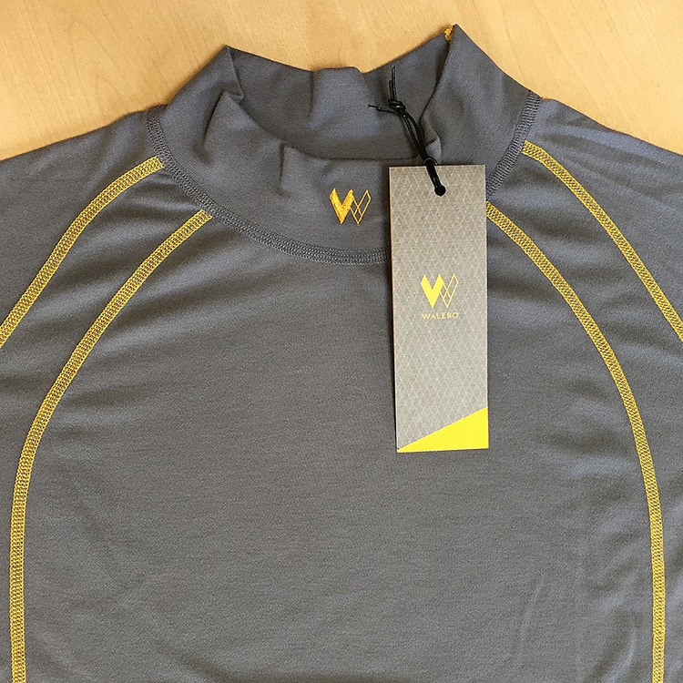 Close up of Walero branded garment with tag design