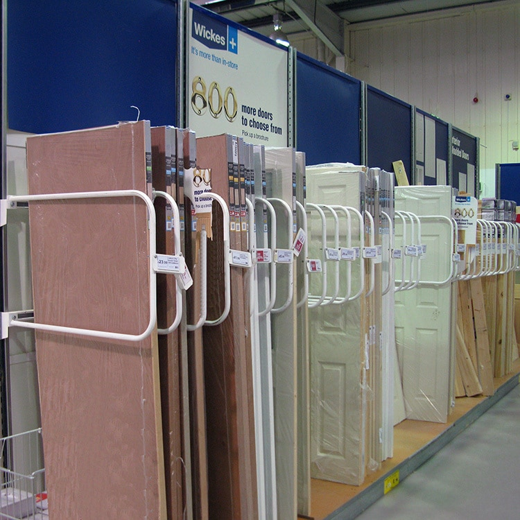 Old Interior doors POS design in Wickes retail store