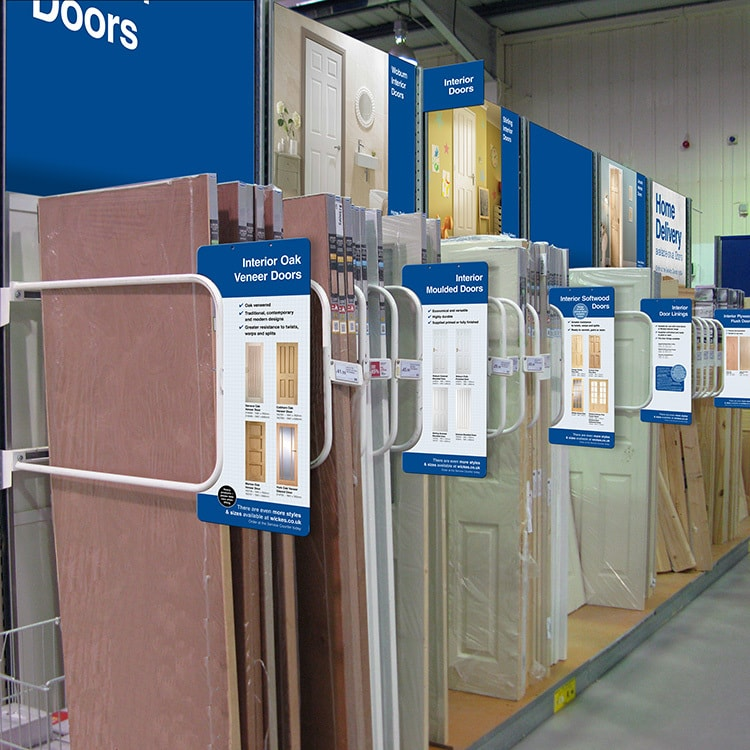 New Interior doors POS design in Wickes retail store