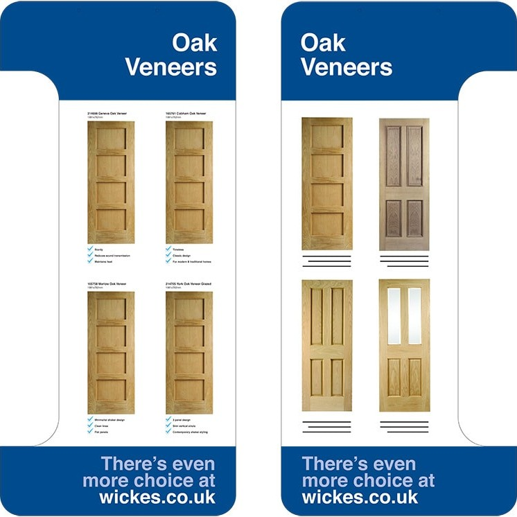 Oak Veneer door shelf dividers for Wickes