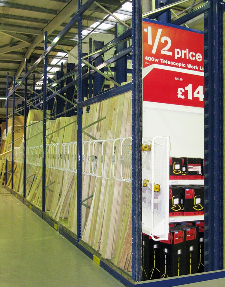 Old Timber POS design in Wickes retail store