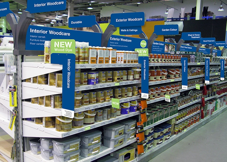 New Woodcare POS design for Wickes retail store
