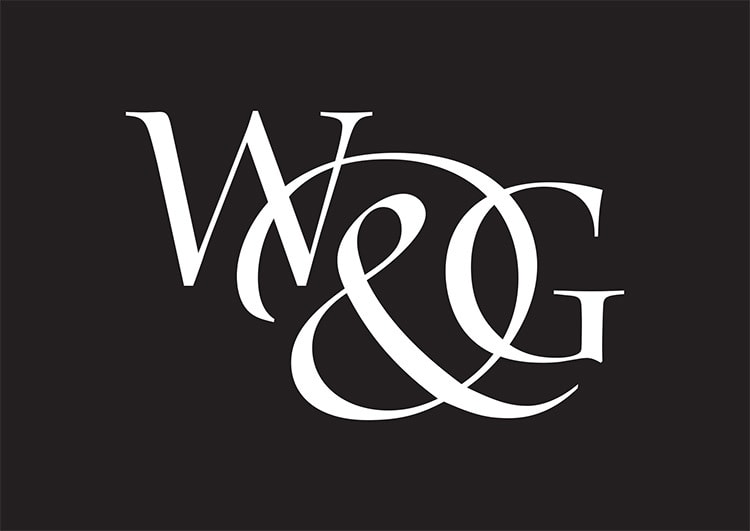 Willis & Gambier reversed portrait logo design