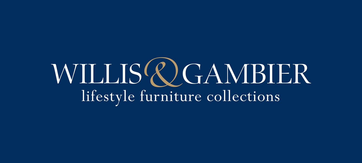 Reversed Branding design for Willis & Gambier with strapline