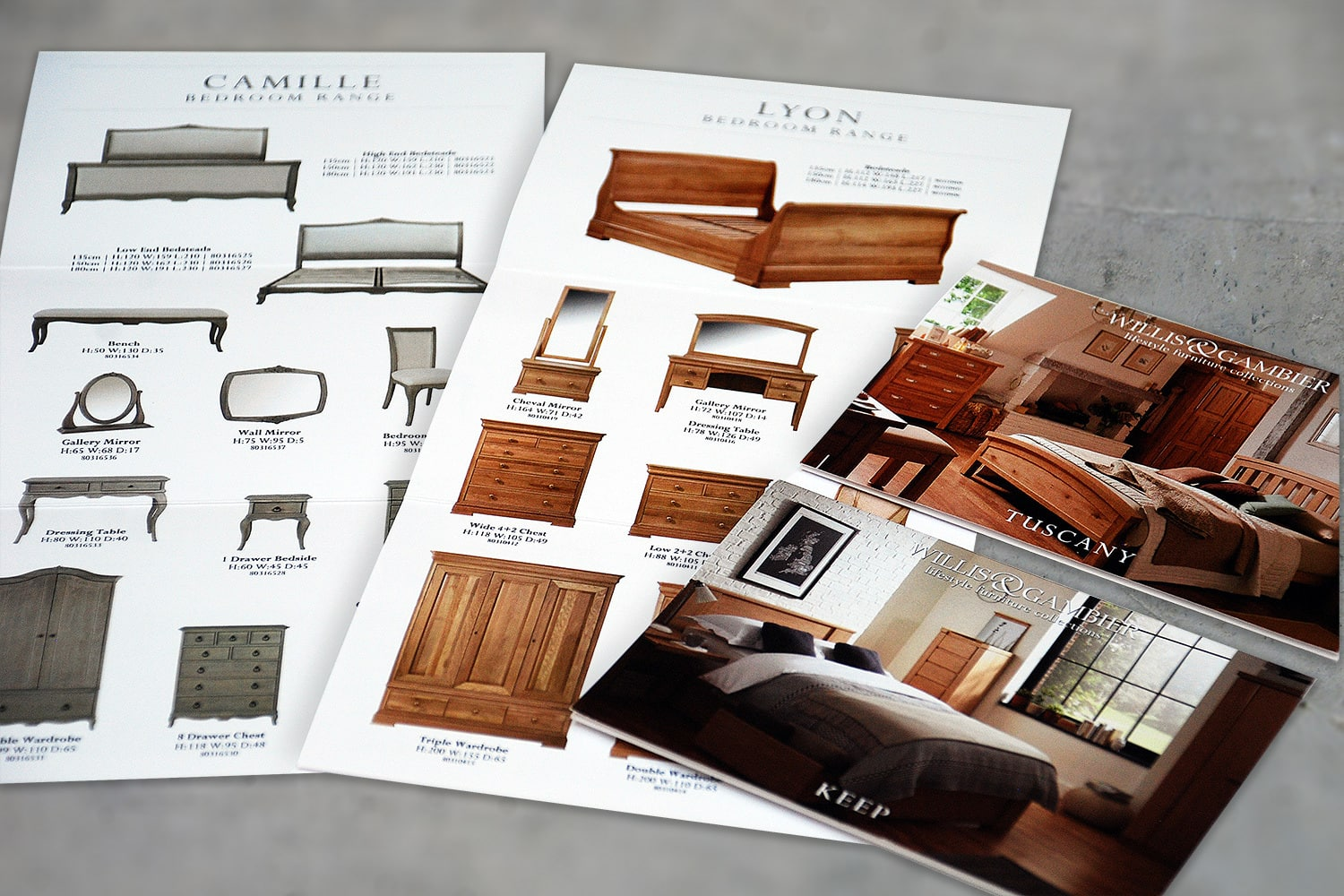 John Lewis Brochures print design for Willis & Gambier
