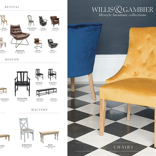 Willis & Gambier 6 page brochure Promotion Design of their chair range Thumbnail