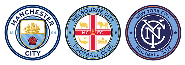 City Group Football team logos