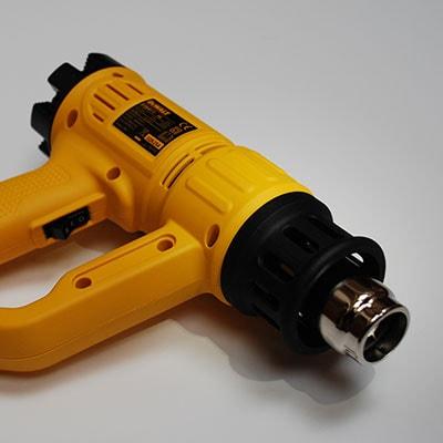 Close up shot of a hand heat gun tool for Tilgear