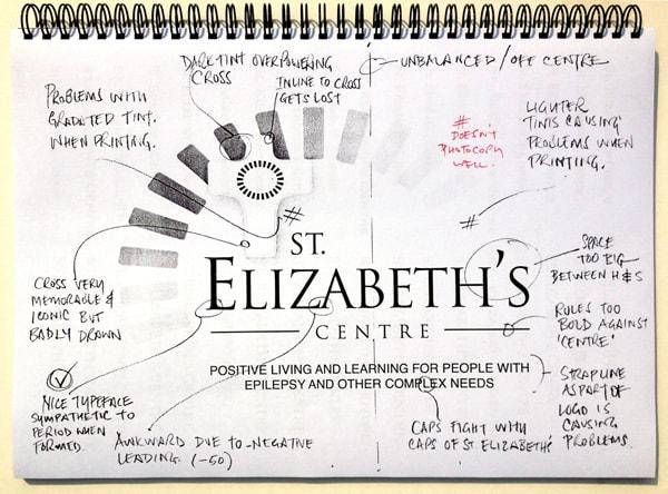The visual construction of St Elizabeth's branding