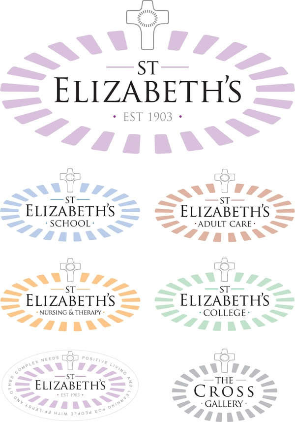 New St Elizabeth's logo design along with sub-brands